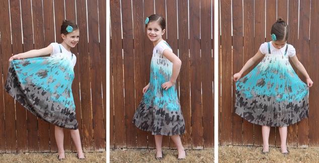 03. Как сшить платье для девочки своими руками из юбки