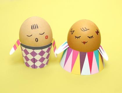 03. Человечки из яиц пасхальные поделки