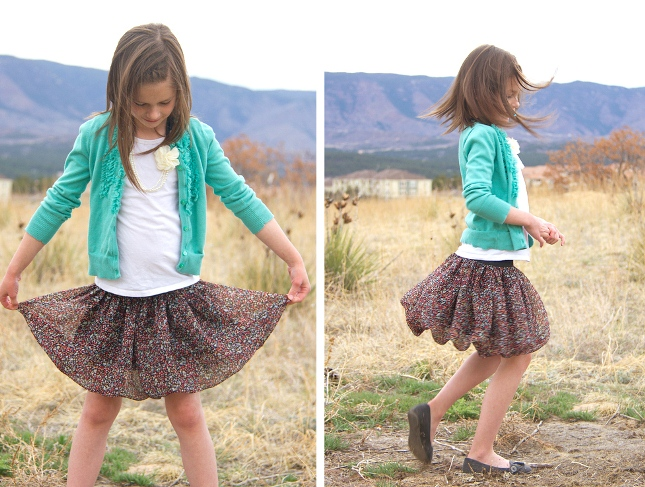 03. Как сшить юбку для девочки из шифона