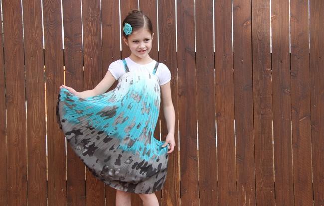 Сшить платье из юбки для девочек 67