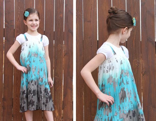 06. Как сшить платье для девочки из юбки
