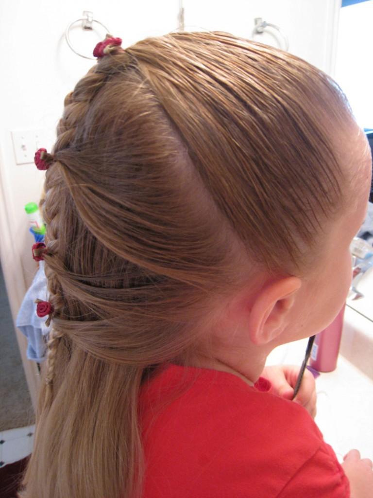06. Коса по-французски прически для детей