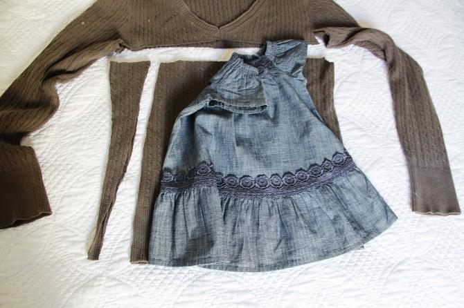 Из свитера платье своими руками