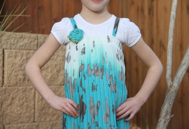 08. Как сшить платье для девочки из юбки