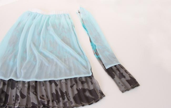 Сшить платье из юбки для девочек 12