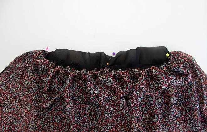 11. Как сшить юбку для девочки из шифона