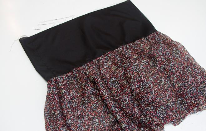 15. Как сшить юбку для девочки из шифона