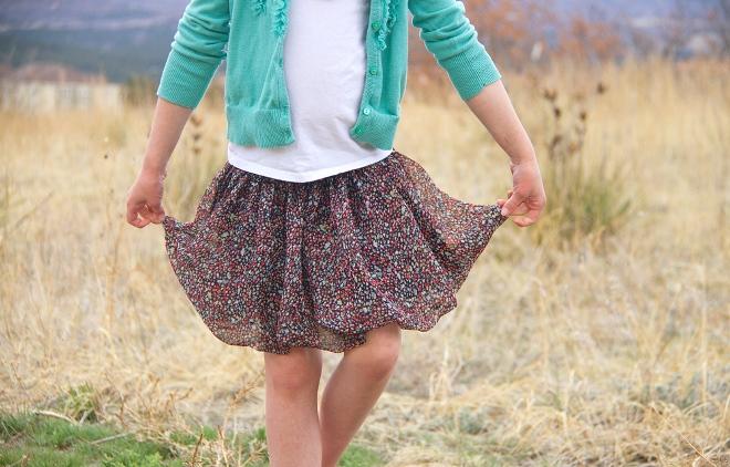 23. Как сшить юбку для девочки из шифона