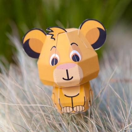 01. Симба - игрушки из бумаги для детей