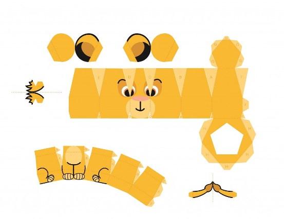 02. Симба - игрушки из бумаги для детей