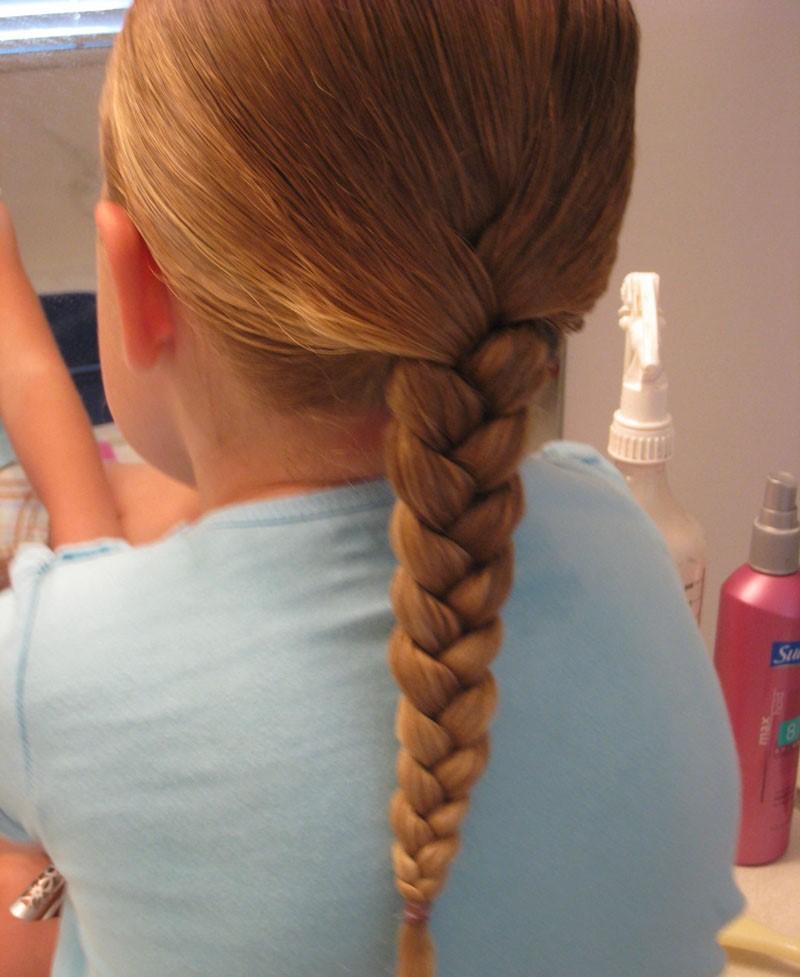Как сделать косу девочками 476