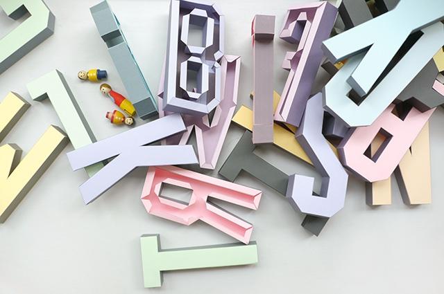 05_объемные буквы из бумаги