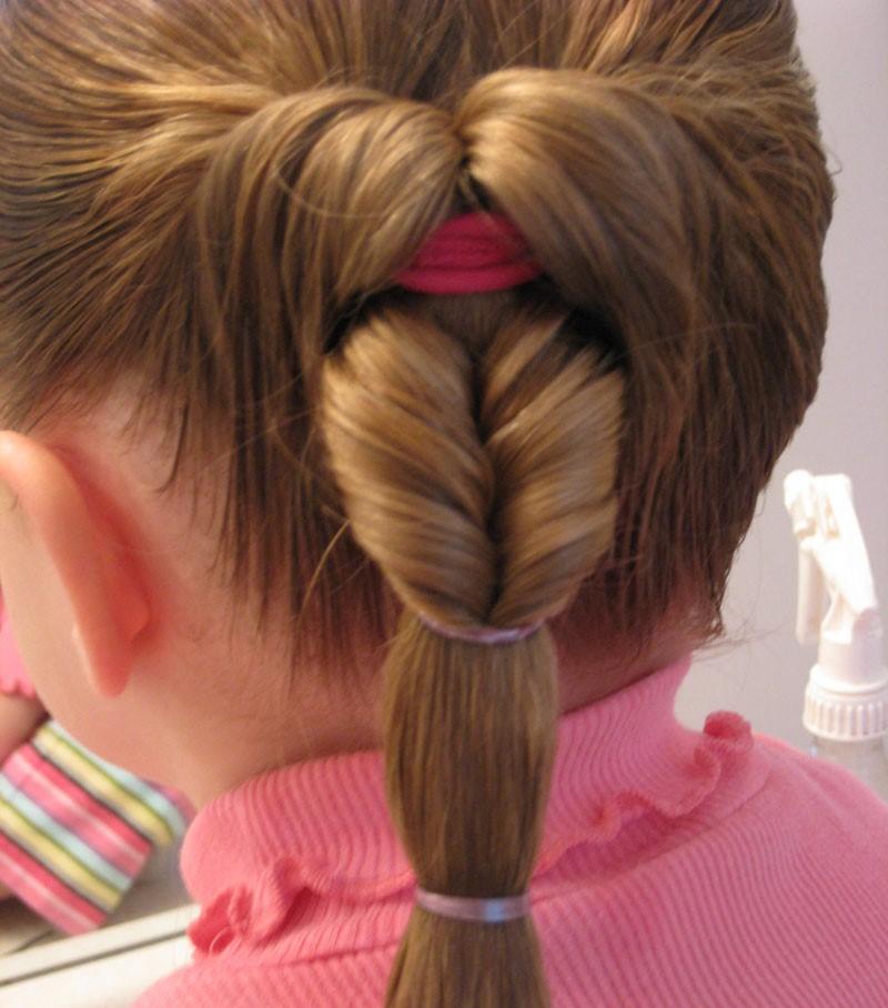 Петли из волос прически