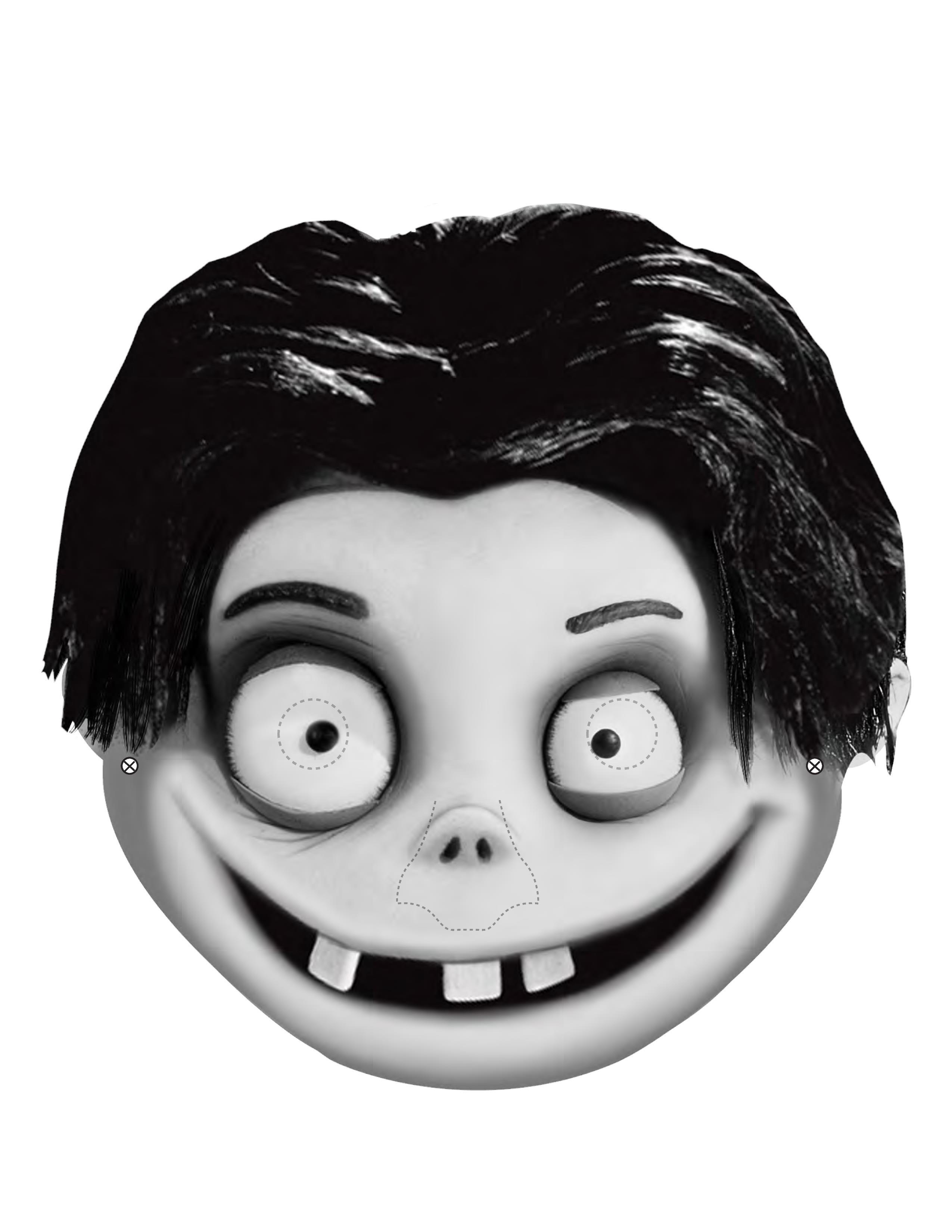 Страшная маска на хэллоуин своими руками из бумаги