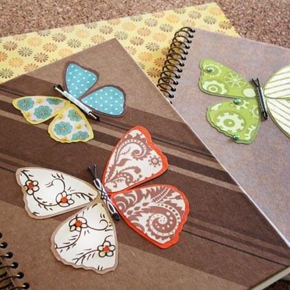 Обложка для тетради в виде бабочек