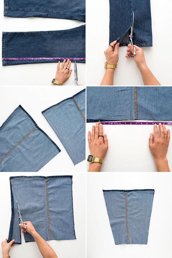 Что можно сделать из старых джинсов своими руками фото с выкройками
