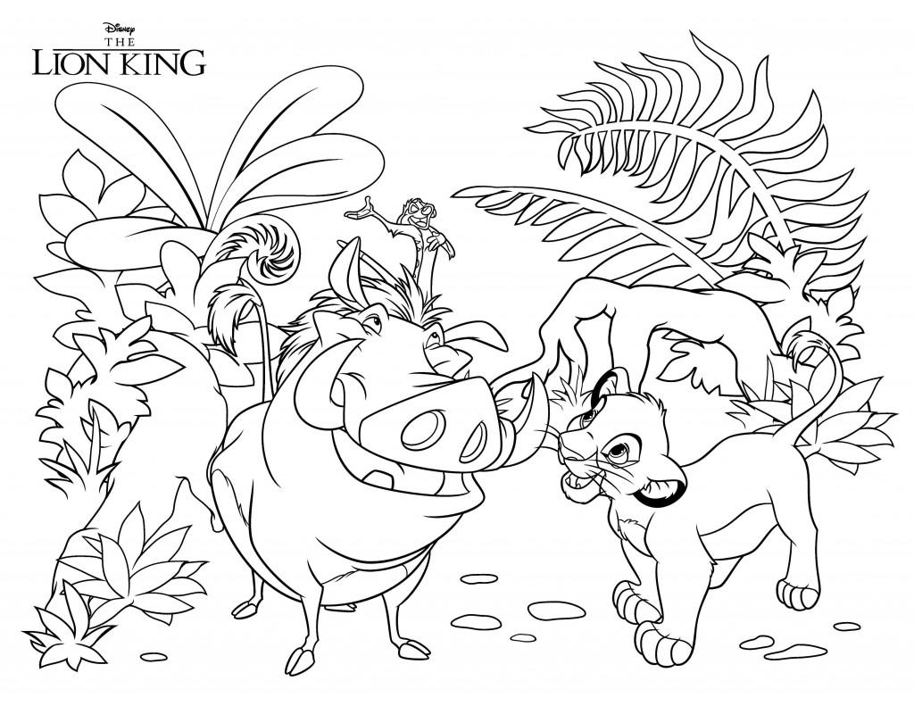 02. Король лев раскраски Дисней