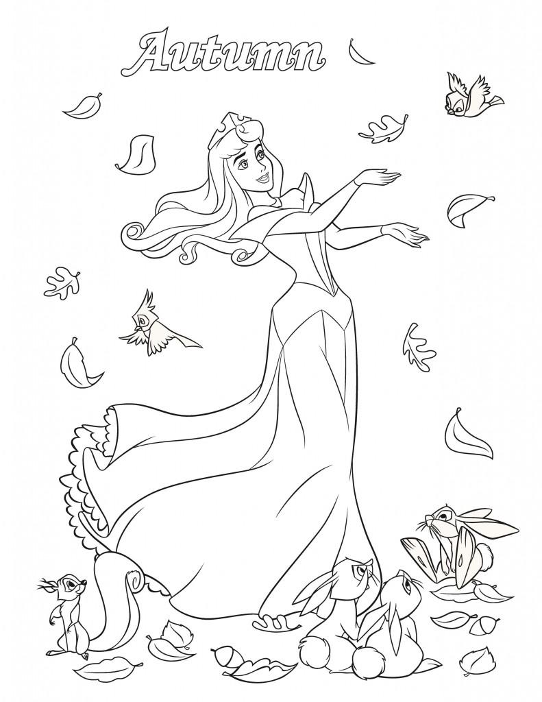 02. Принцесса Аврора раскраски Дисней