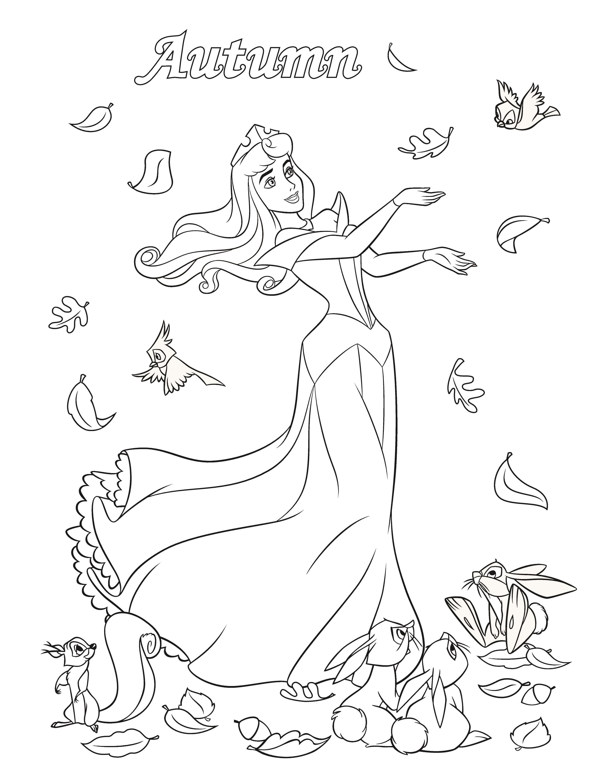 for Disney fall coloring pages printable